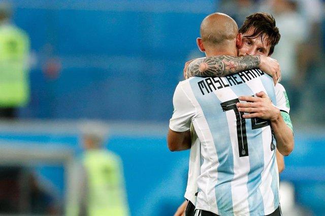 Javier Mascherano y Lionel Messi