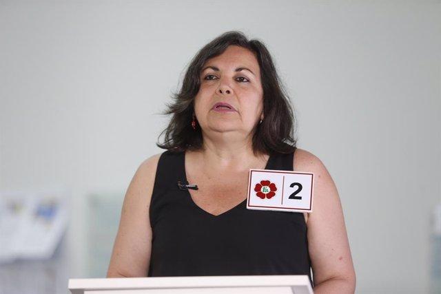 La diputada del Frente Amplio de Perú, Rocío Silva Santisteban.