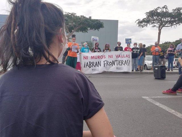 Protestes pels drets dels migrants a Arguineguín (Gran Canària), 14 de novembre del 2020.