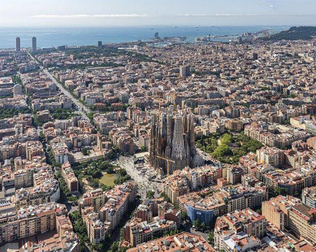 Vista de la Sagrada Família, a Barcelona