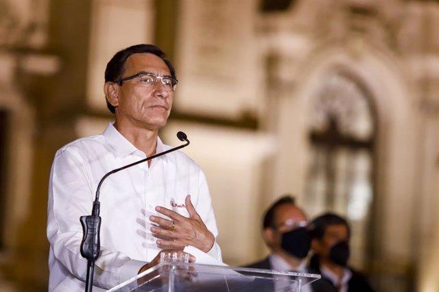El ahora expresidente peruano Martín Vizcarra.
