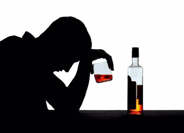 Hombre, beber, borracho, alcohol, alcoholismo