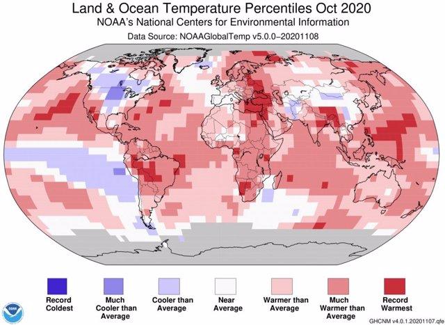 Anomalía climática de octubre de 2020