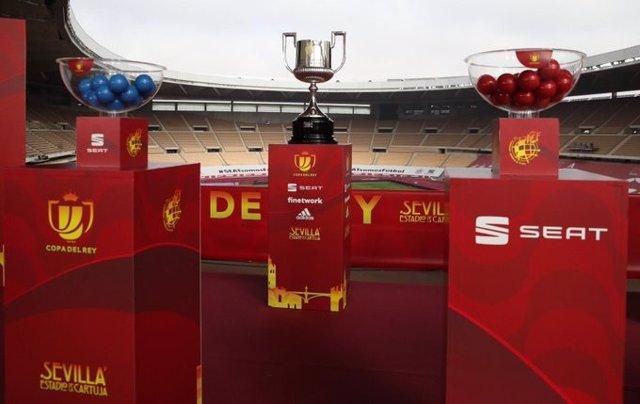 Sorteo de la primera eliminatoria de la Copa del Rey en La Cartuja