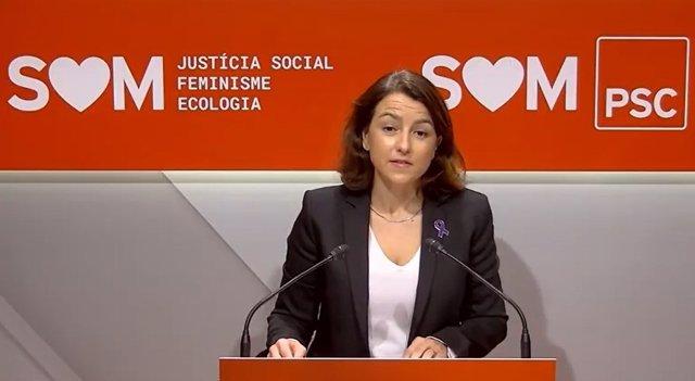 La vice-primera secretària i portaveu del PSC, Eva Granados