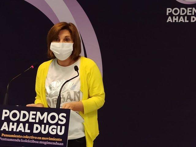 La coordinadora general de Podemos Ahal Dugu, Pilar Garrido