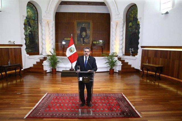 El ya expresidente de Perú Manuel Merino.