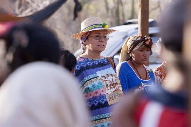 Protesta de grupos indígenas en Colombia