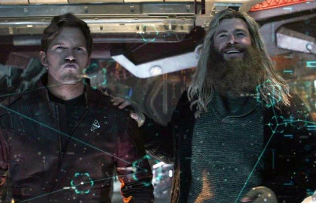 Star-Lord y Thor en el final de Vengadores: Endgame