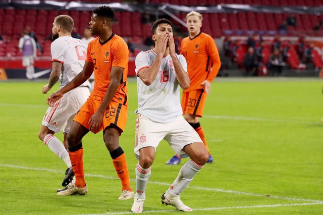 Rodri of Spain reacts during the International Friendly football match between Netherlands and Spain on november 11, 2020 at Johan Cruijff Arena in Amsterdam, Netherlands - Photo Marcel ter Bals / Orange Pictures / DPPI