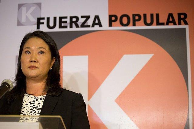 La dirigente del partido peruano Fuerza Popular, Keiko Fujimori