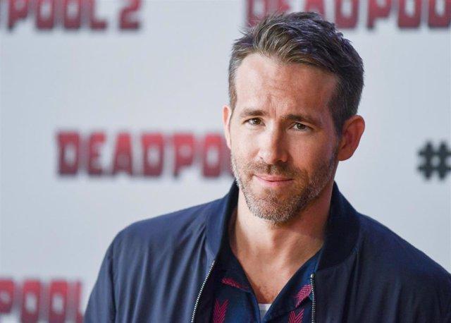 El actor Ryan Reynolds durante un acto de promoción de 'Deadpool 2'
