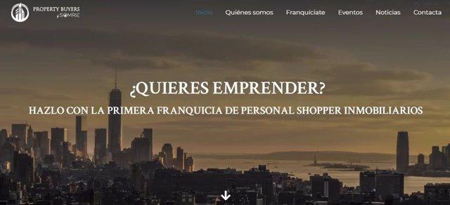 Página de inicio Web PropertyBuyers by Somrie