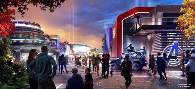 Render de Disney's Hotel New York – The Art of Marvel,