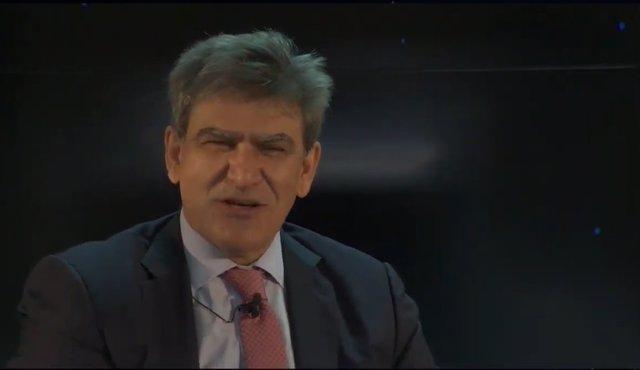 El consejero delegado de Banco Santander, José Antonio Álvarez, durante el XXVII Encuentro del Sector Financiero organizado por Deloitte, ABC y Sociedad de Tasación el 17 de noviembre de 2020.