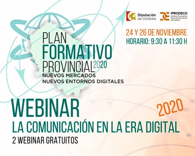 Cartel del webinar sobre 'La comunicación en la era digital'