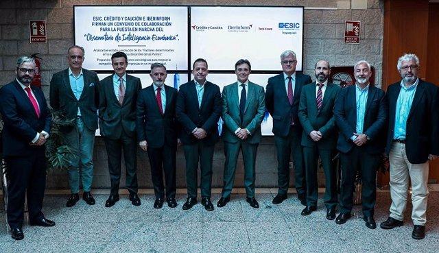 Crédito y Caución, Iberinform y ESIC Business & Marketing School ponen en marcha del Observatorio de Inteligencia Económica.