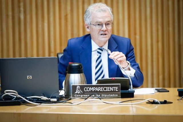 El presidente de la CNMV, Sebastián Albella, en su comparecencia en el Congreso