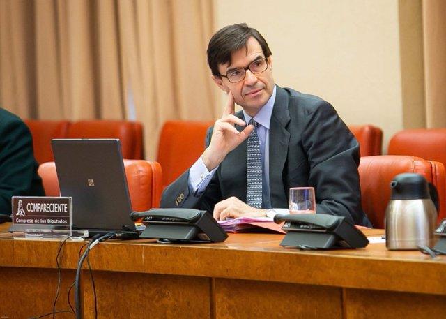 El secretario de Estado para la UE, Juan González-Barba, en la Comisión Mixta Congreso-Senado para la Unión Europea