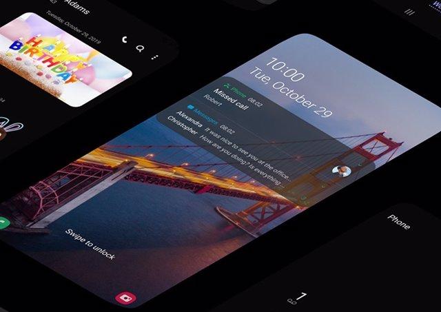 La capa de personalización One UI 2 en un móvil de Samsung.