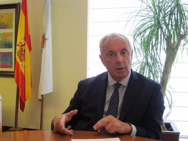 Imagen de archivo de Manuel 'Pachi' Vázquez en una entrevista con Europa Press durante su etapa como secretario xeral del PSdeG