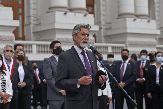 El nuevo presidente interino de Perú, Francisco Sagasti