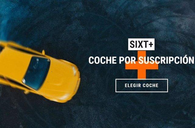 Captura de la página de Sixt+.