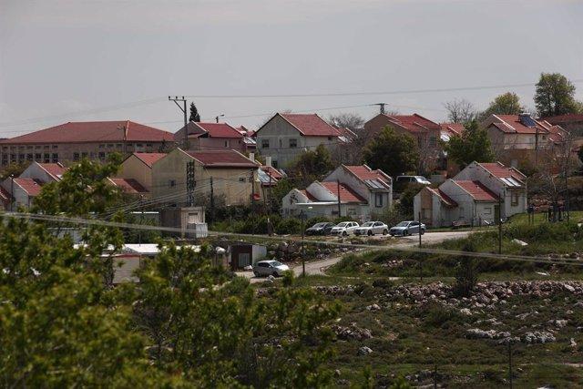 Vista general del asentamiento de Shifot Rahil, cerca de la ciudad cisjordana de Nablús