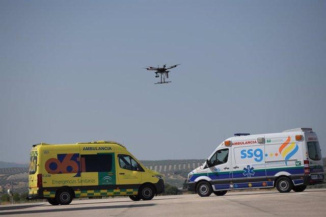 Demostración del dron controlado con 5G en el centro Atlas.