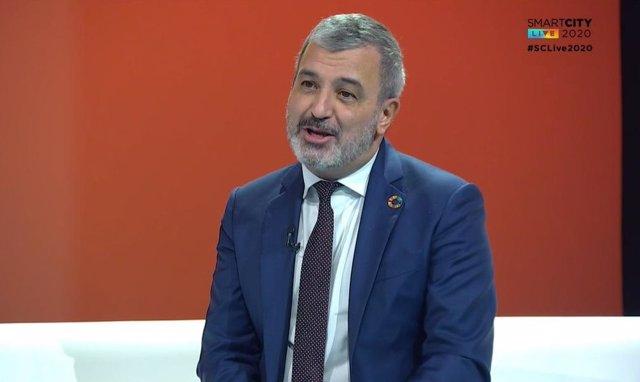 El primer tinent d'alcalde de Barcelona, Jaume Collboni, en el Smart City Live