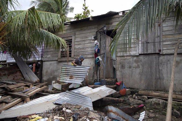 Preparativos frente al huracán 'Iota' en Puerto Cabezas, Nicaragua