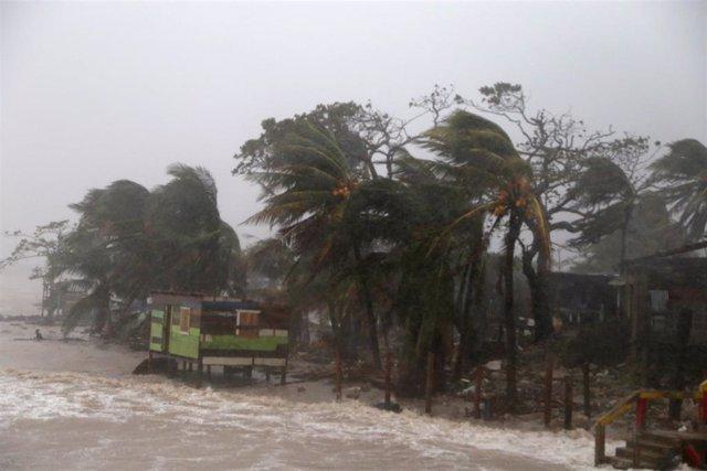 Llegada del huracán 'Iota' a Nicaragua