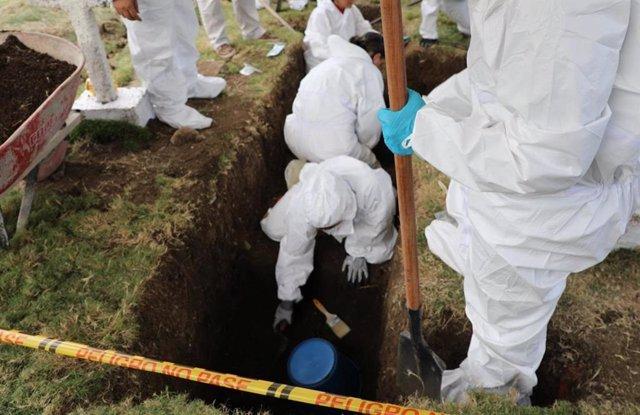 """Exhumaciones de la Jurisdicción Especial para la Paz (JEP) por """"falsos positivos"""""""