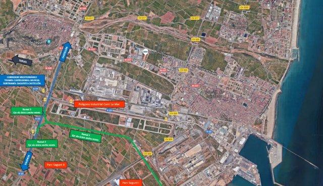 Ramal de acceso al puerto de Sagunt
