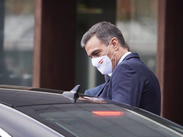 El president del Govern espanyol, Pedro Sánchez. Pamplona, Navarra (Espanya), 13 de novembre del 2020