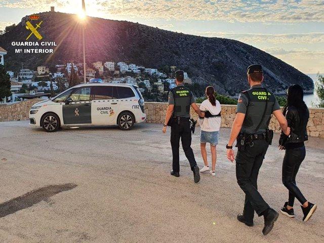 La Guardia Civil esclarece once delitos contra el patrimonio en La Marina Alta de Alicante