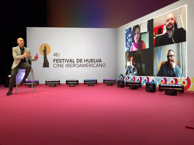Rueda de prensa de la presentación del foro 'Hablando sobre comunicación cinematográfica'.