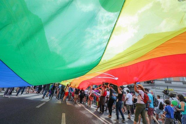Desfile del orgullo gay en Budapest en julio de 2018
