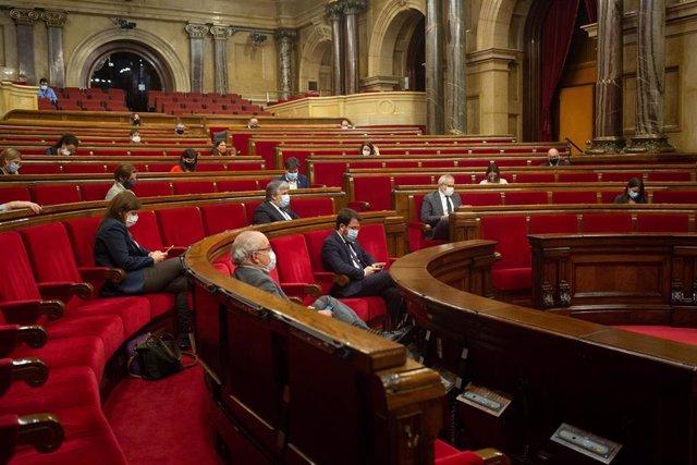 Pleno del Parlament de Catalunya el 18 de noviembre de 2020