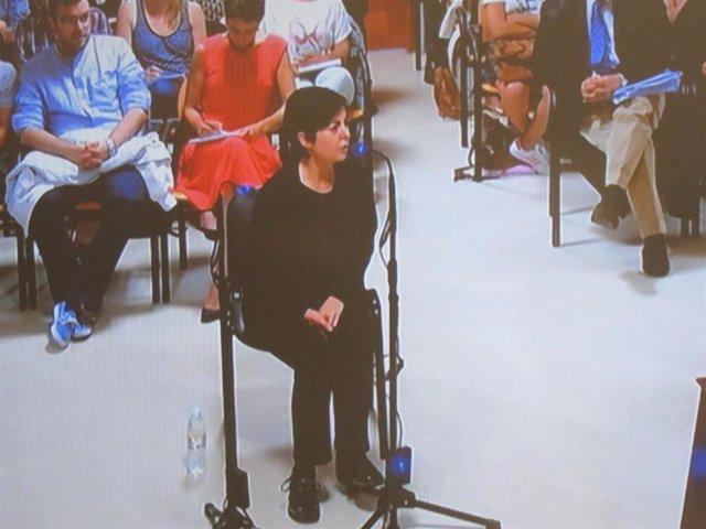 Rosario Porto, madre de Asunta Basterra, en el juicio por la muerte de Asunta