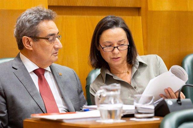 Los concejales de Vox en el Ayuntamiento de Zaragoza, Julio Calvo y Carmen Rouco