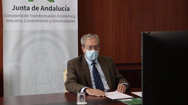 Rogelio Velasco, consejero de Transformación Económica, Industria, Conocimiento y Universidades