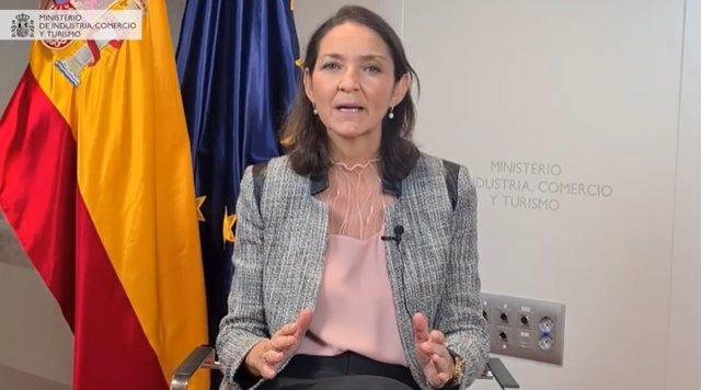 La ministra d'Indústria, Comerç i Turisme, Reyes Maroto