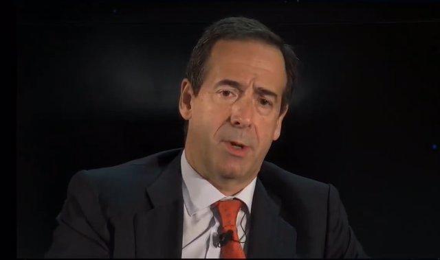 El consejero delegado de CaixaBank, Gonzalo Gortázar, en el XXVII Encuentro del Sector Financiero organizado por Deloitte, 'ABC' y Sociedad de Tasación.
