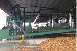 Instalación de secado de biomasa en planta de cogeneración de biomasa con tecnología de gasificación puesta en marcha en Ejea de los Caballeros en 2012
