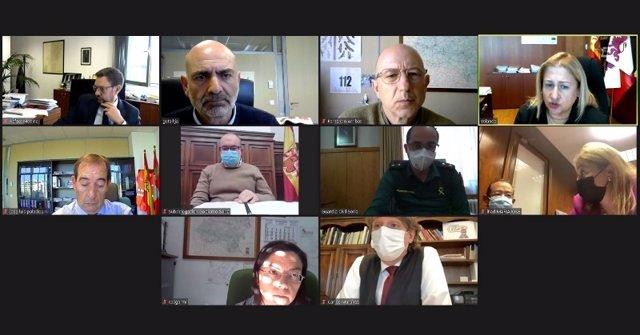 Reunión Telemática De La Delegada De La Junta En Soria Con Responsables Del Dispositivo.