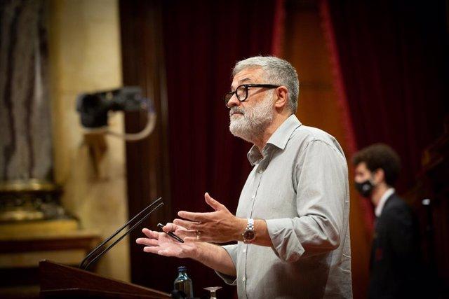 El portaveu de la CUP al Parlament, Carles Riera.