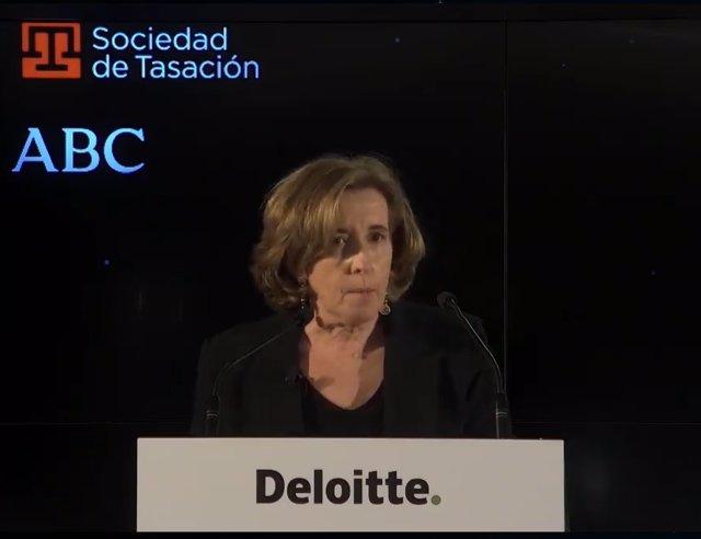 Secretaria de Estado de Economía, Ana de la Cueva, en XXVII Encuentro del Sector Financiero
