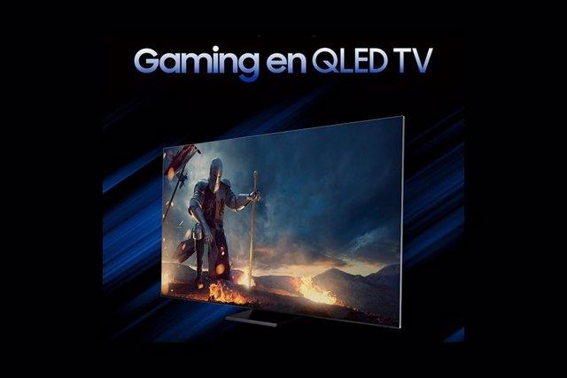 Televisor Samsung QLED.