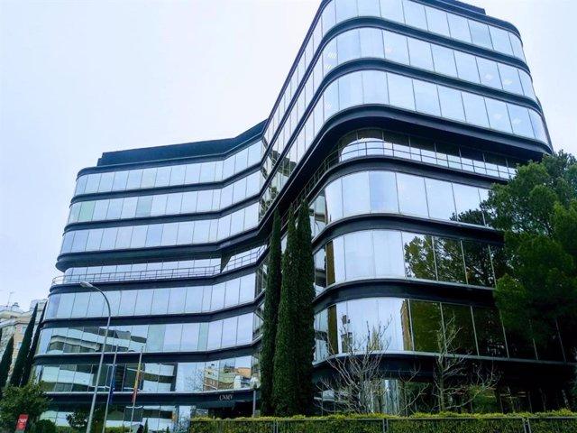 Edificio sede de la CNMV en la calle Edison de Madrid.